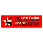 Cat World Domination -(shorthair) Bumper Sticker