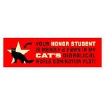 Cat World Domination! (longhair) Bumper Sticker