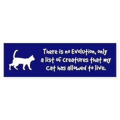 Shocking Cat Evolution Statement Bumper Bumper Sticker