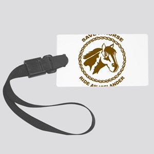 Ride An Icelander Large Luggage Tag