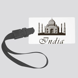Retro India Taj Mahal Large Luggage Tag