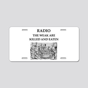 radio Aluminum License Plate