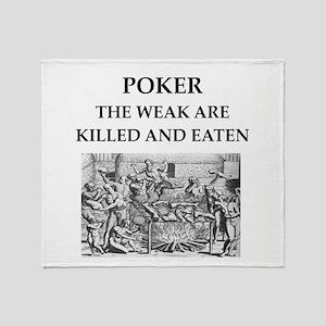 poker Throw Blanket