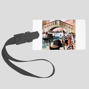 Vintage Venice Large Luggage Tag