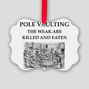 pole vaulting Picture Ornament