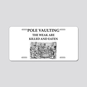 pole vaulting Aluminum License Plate