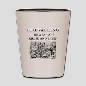 pole vaulting Shot Glass