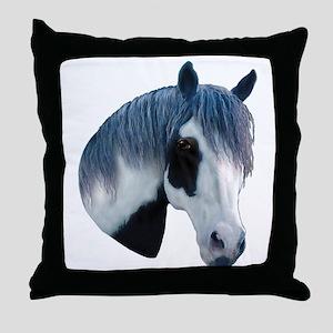 Paint Horse Portrait Throw Pillow