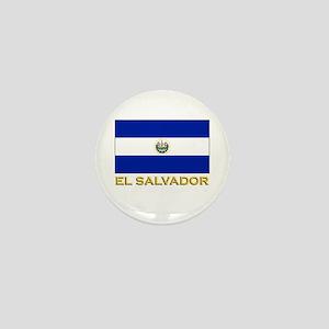 El Salvador Flag Stuff Mini Button