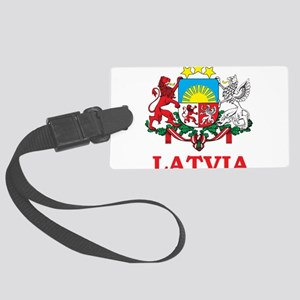 Latvia Large Luggage Tag