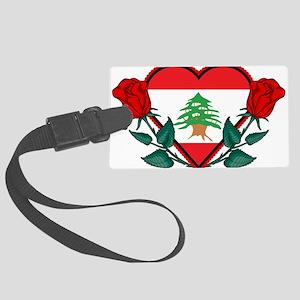 Heart Lebanon Large Luggage Tag