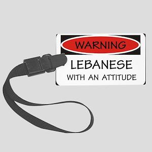 Attitude Lebanese Large Luggage Tag