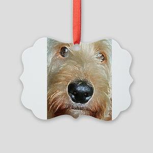 Big black squishy nose Picture Ornament