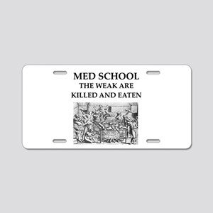 med,school Aluminum License Plate
