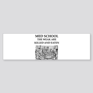 med,school Sticker (Bumper)