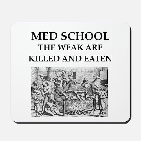 med,school Mousepad