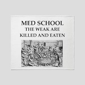 med,school Throw Blanket
