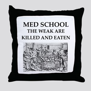 med,school Throw Pillow