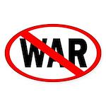 Red Slash Through War bumper sticker