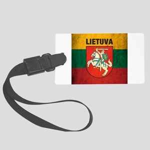Vintage Lithuania Large Luggage Tag