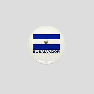 El Salvador Flag Gear Mini Button