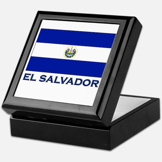 El Salvador Flag Gear Keepsake Box