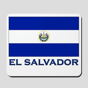 El Salvador Flag Gear Mousepad