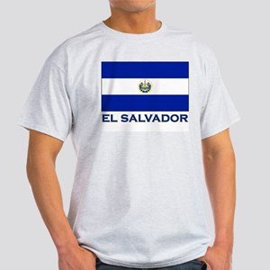 El Salvador Flag Gear Ash Grey T-Shirt