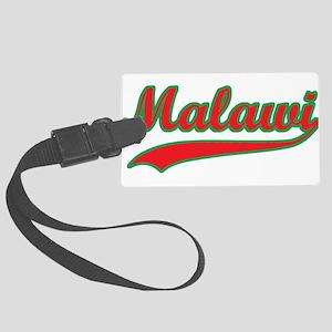 Retro Malawi Large Luggage Tag