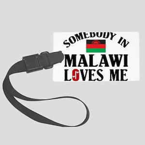 Somebody In Malawi Large Luggage Tag
