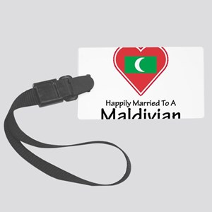 Happily Married Maldivian Large Luggage Tag