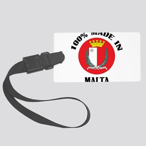 Made In Malta Large Luggage Tag