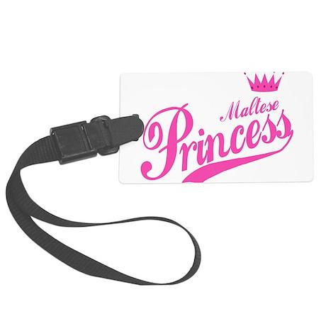 Princess Maltese Large Luggage Tag