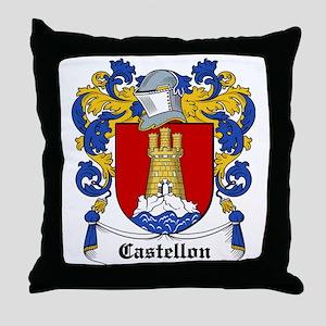Castellon Coat of Arms Throw Pillow