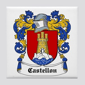 Castellon Coat of Arms Tile Coaster