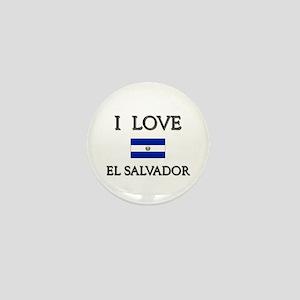 I Love El Salvador Mini Button