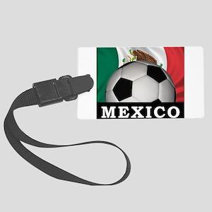Mexico Football Large Luggage Tag