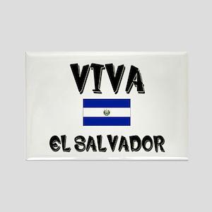 Viva El Salvador Rectangle Magnet