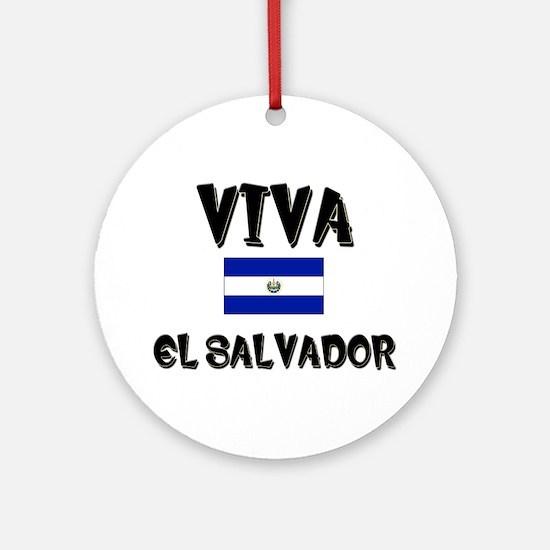 Viva El Salvador Ornament (Round)