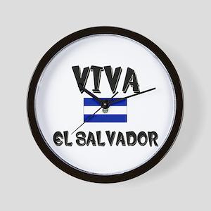 Viva El Salvador Wall Clock