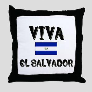 Viva El Salvador Throw Pillow