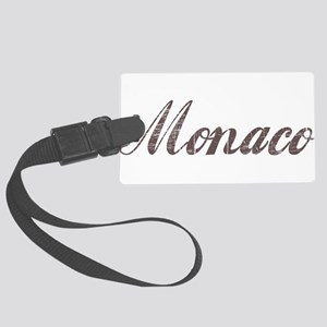 Vintage Monaco Large Luggage Tag