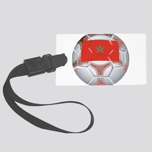 Morocco Soccer Large Luggage Tag