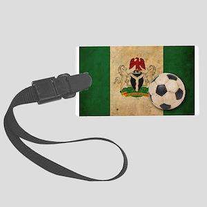 Vintage Nigeria Football Large Luggage Tag
