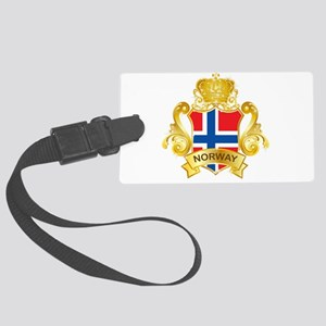 Gold Norway Large Luggage Tag