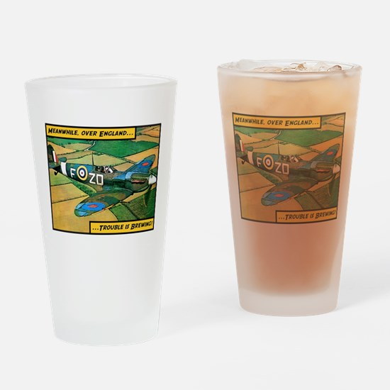 Spitfire - Trouble Brewing! Drinking Glass