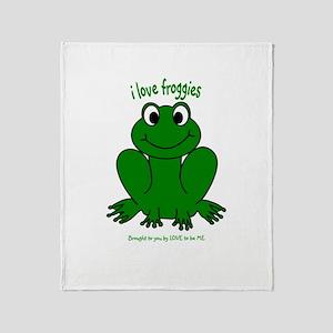 FROGGIE Throw Blanket