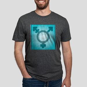 Transgender symbol, artwork Mens Tri-blend T-Shirt