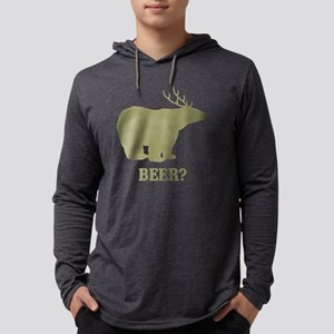 Beer Deer Bear Mens Hooded Shirt