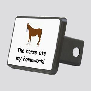 horse ate my homework Rectangular Hitch Cover
